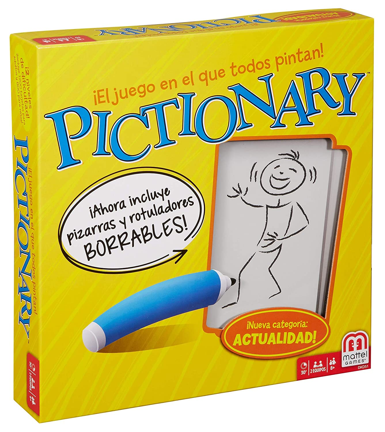 Amazon.com: Juegos Mattel Games Mattel聽-聽Pictionary None ...