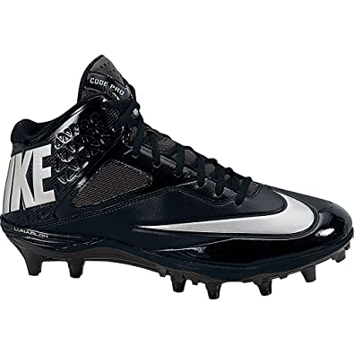 Nike Code Pro 3 4 D Men Football Shoes Black Anthracite Metallic Silver