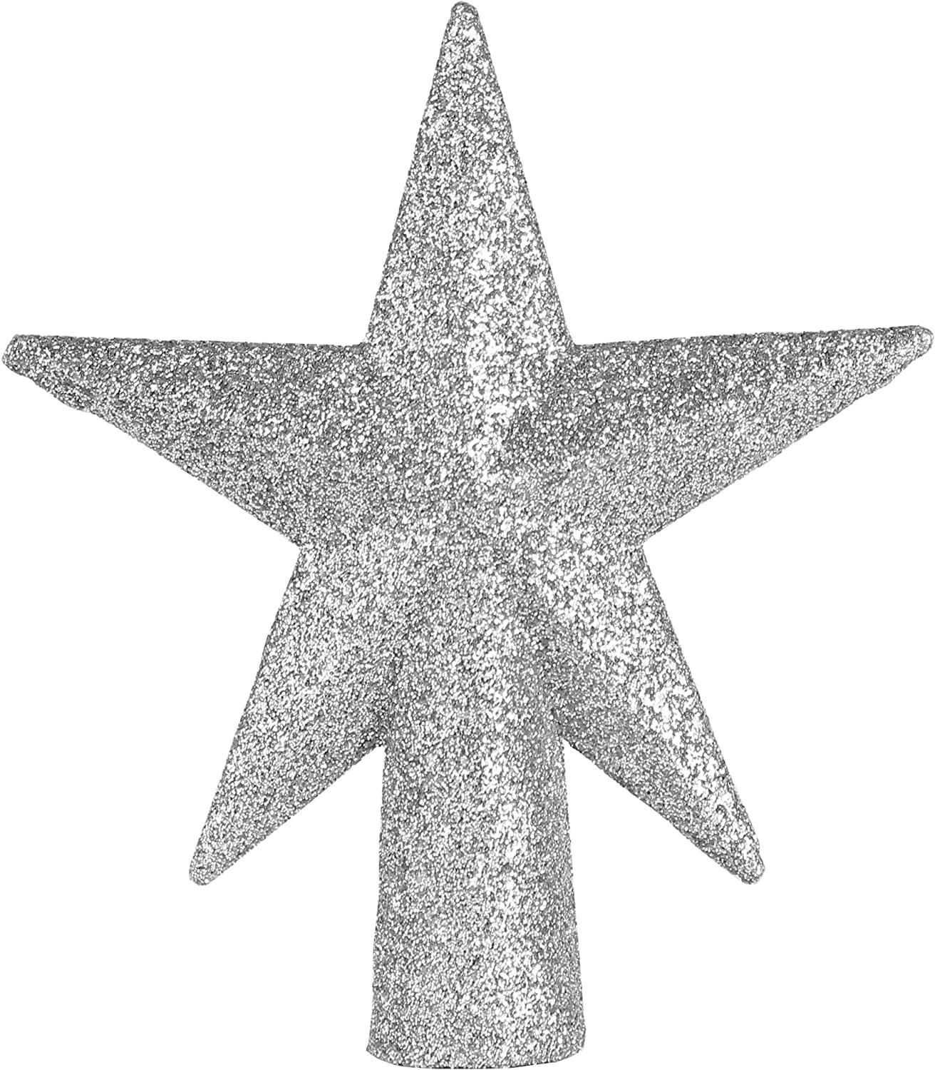 Ornativity Glitter Star Tree Topper - Christmas Mini Silver Decorative Holiday Bethlehem Star Ornament