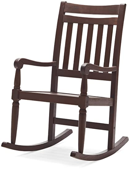 Strathwood Redonda Hardwood Rocking Chair, Dark Brown