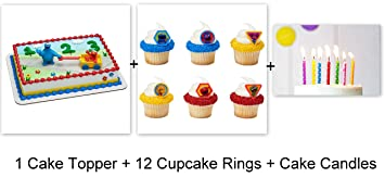 Sesame Street Elmo Abby Cake Cupcake Topper Pics Rings Party