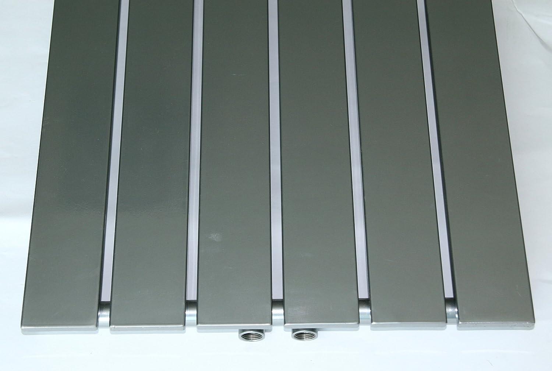 1118 Watt wei/ß Marke: Szagato Made in Germany//Bad und Wohnraum-Heizk/örper HxB: 180 x 47 cm 1 Handtuchhalter Mittelanschluss 50mm Badheizk/örper Design Peking 3