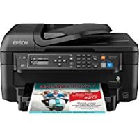 Epson WF-2750 All-in-One Wireless Color Printer with Scanner, Copier & Fax, Amazon Dash Replenishment Enabled