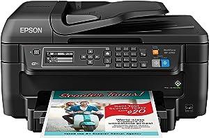 Epson WF-2750 All-in-One Wireless Color Printer with Scanner, Copier & Fax, Amazon Dash Replenishment Ready