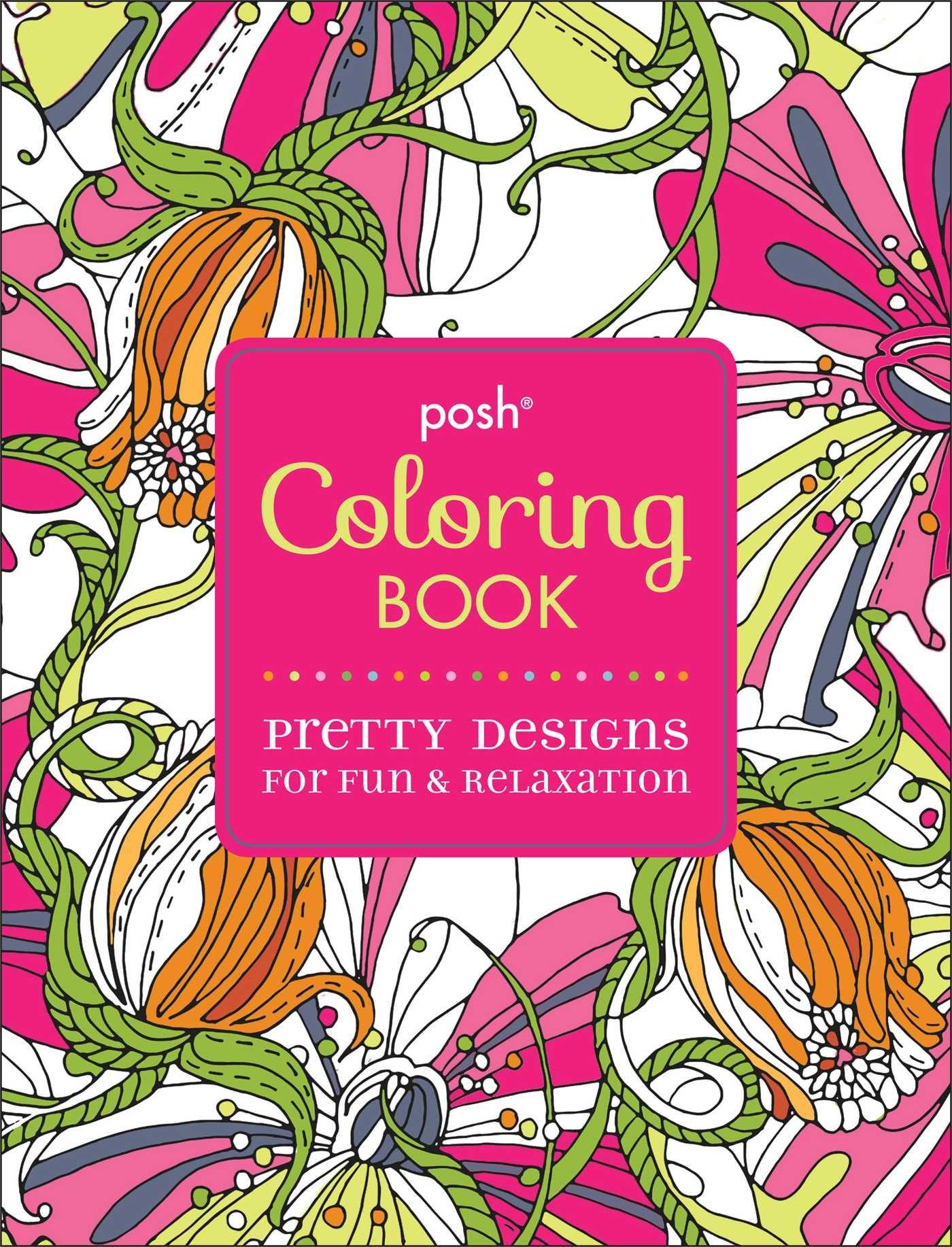 Amazon.com: Posh Adult Coloring Book: Pretty Designs for Fun ...