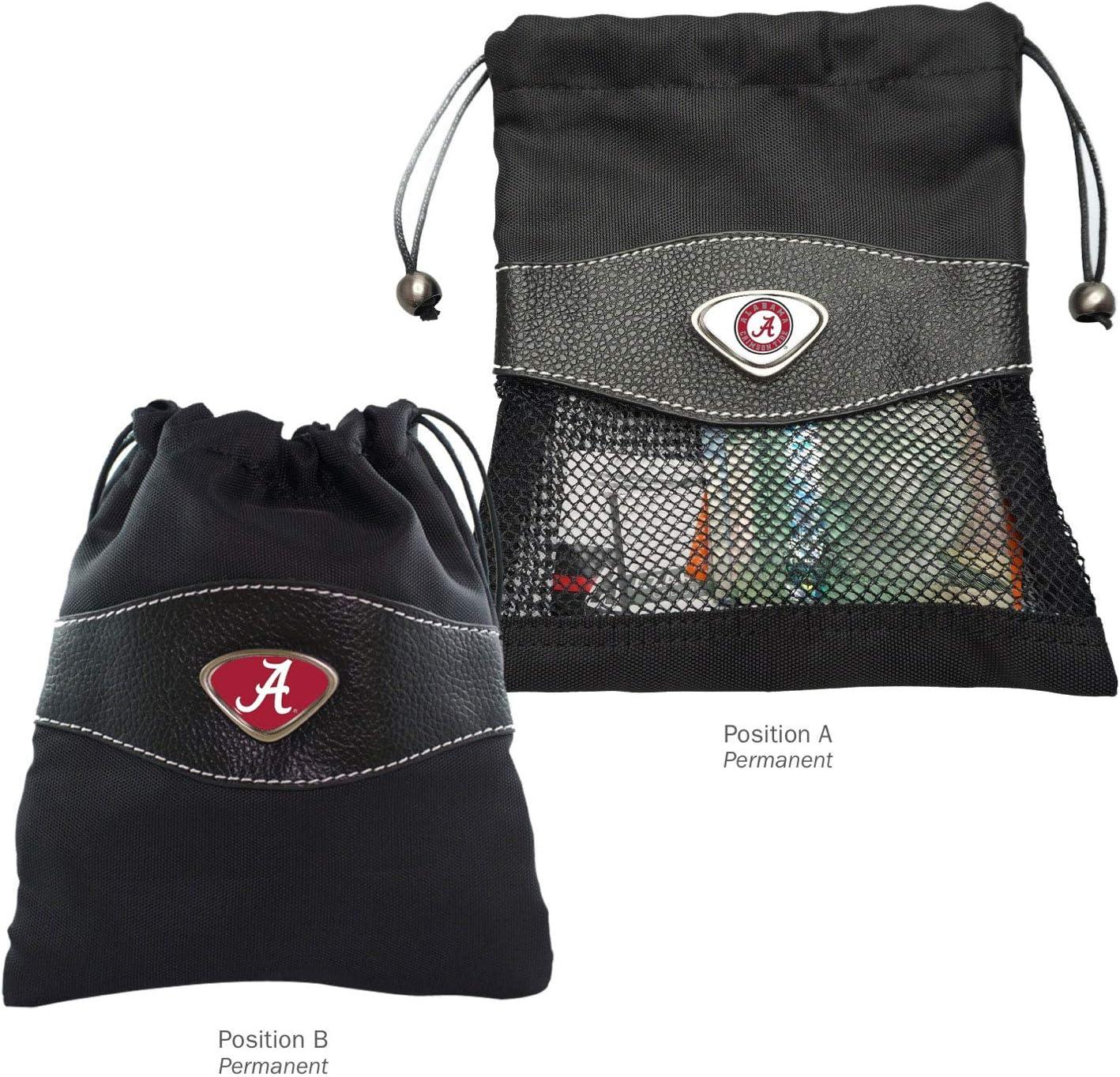 Black AdSpec NCAA Alabama Crimson Tide Collegiate Valuables BagCollegiate Valuables Bag One Size