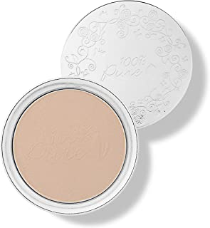 product image for 100% PURE Powder Foundation (Fruit Pigmented), Peach Bisque, Matte Finish, Absorbs Oil, Anti-Aging, Helps Fight Acne, Natural, Vegan Makeup (Medium Shade w/Yellow Undertones) - 0.32 Oz