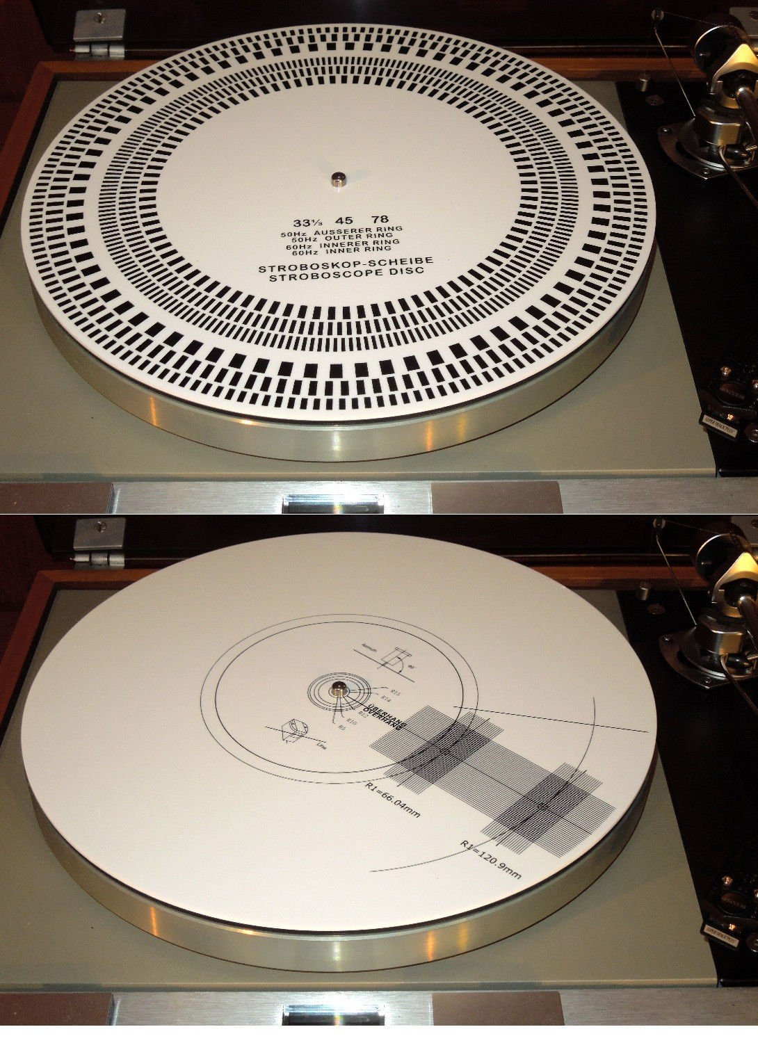 Acrylic Turntable Mat Cartridge Alignment Protractor Strobe Disc Stroboscope by PUREST AUDIO