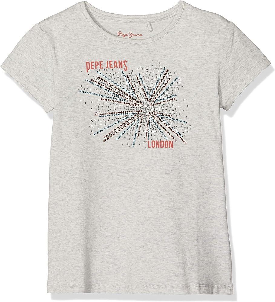 los angeles 230a1 0a442 Pepe Jeans Pepe Jeans Mädchen Hope T-Shirt, Grau (Light Grey ...