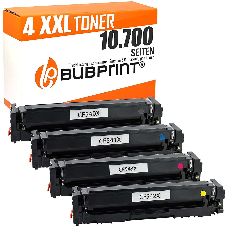 Bubprint 4 tóner Compatible con HP 203 x cf540 X cf541 X cf542 X ...