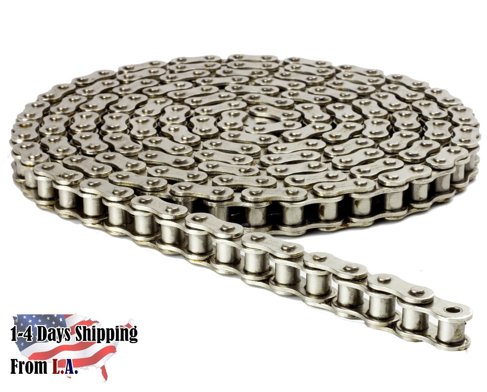 41NP Nickel Plated Chain 4 Feet with 1 Connecting Link Corrosion Resistant