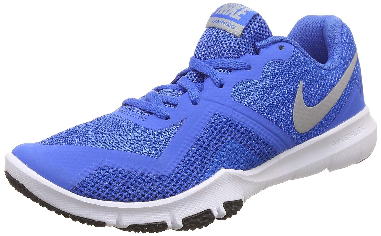 MultiCouleure (Signal bleu Metallic argent Gym bleu 403) 42 EU Nike Flex Control II, Chaussures de Fitness Homme