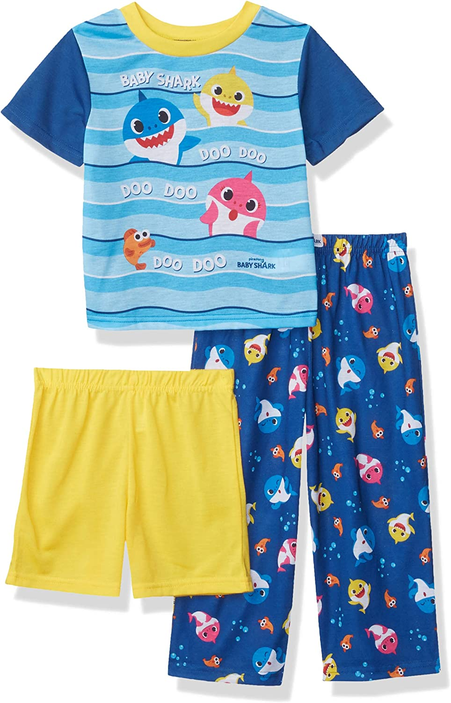 Baby Shark Boys' 3-Piece Pajama Set