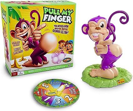 Tirami Il Dito MR Buster Scimmia Gioco ruotare la banana Spinner giochi divertenti