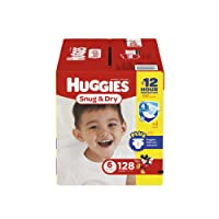 HUGGIES Snug & Dry Diapers, Size 6, 128 Count