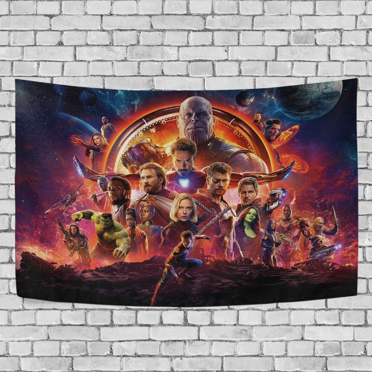 TRE ONE Superhero Avengers Starry Planet Colorful Tapestry Wall Hanging Decoration for Apartment Home Art Wall Tapestry for Bedroom Living Room Dorm 90 x 60 inches
