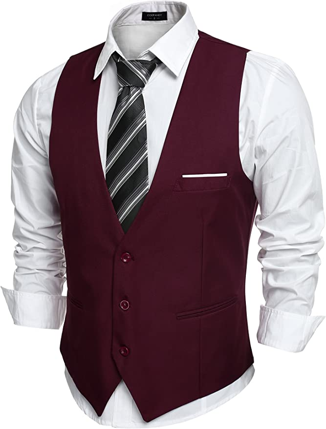 COOFANDY Casual Suit Vest