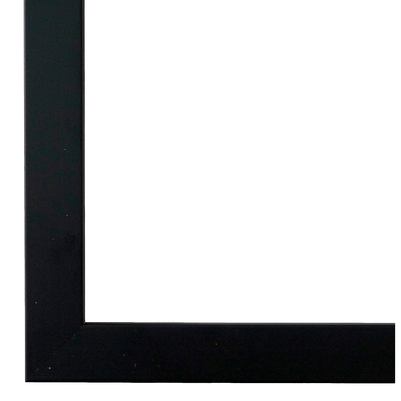 Bilderrahmen Schwarz 30 x 45 cm mit Museumsglas - Modern - Alle Größen - Handgefertigt - Galerie-Qualität - WRU - Neapel 2,0