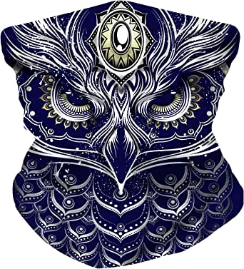 ELECTRIC LION Face Mask Bandanas - Multi-Use Face Cover - with Fine Hemmed Edges