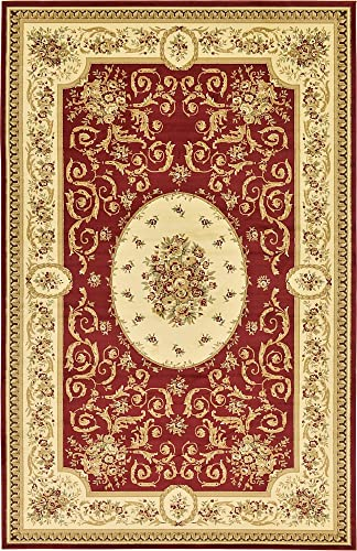 Unique Loom Versailles Collection Traditional Classic Red Area Rug 10' 6 x 16' 5