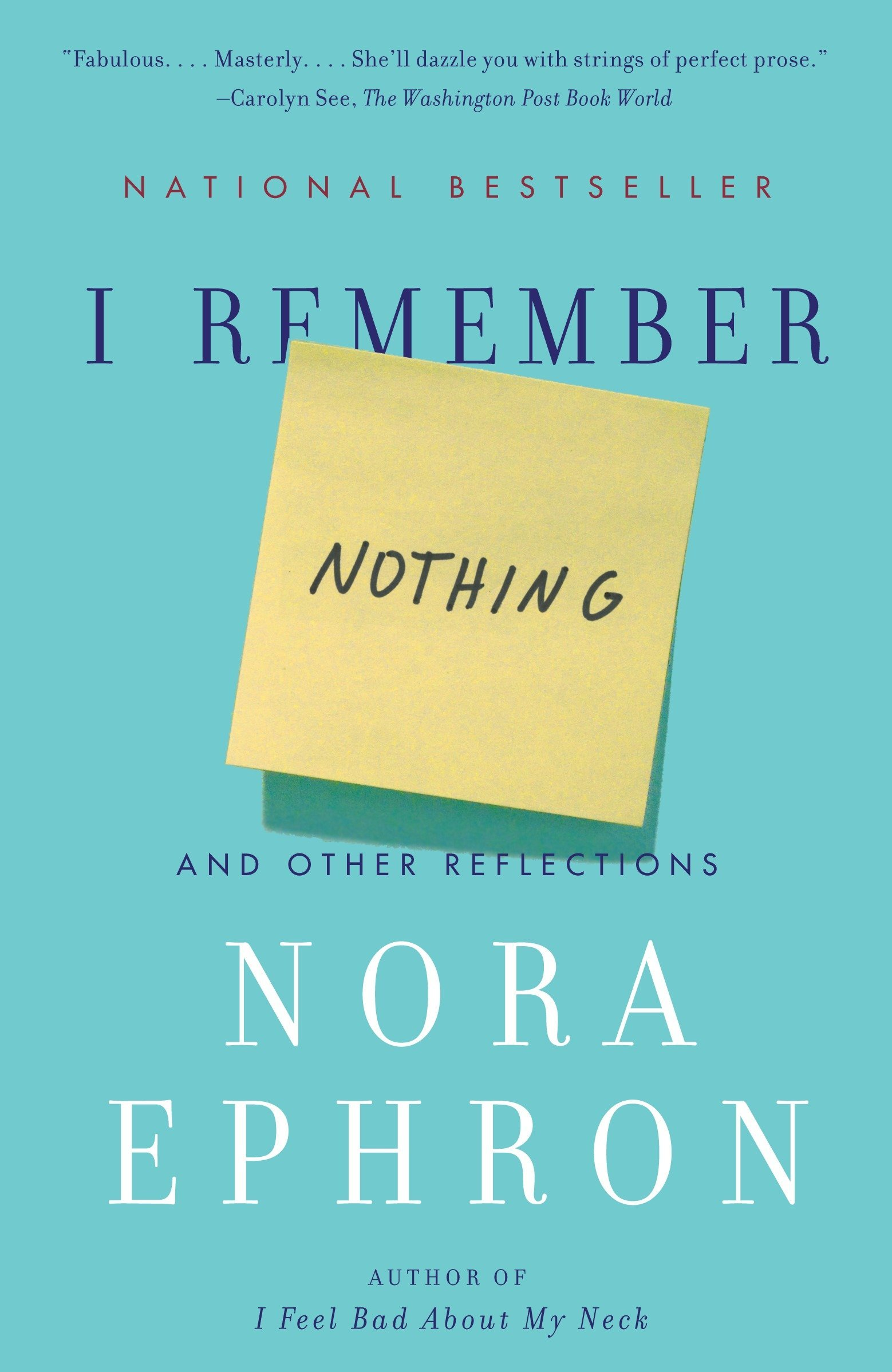 Image result for Nora Ephron i remember nothing