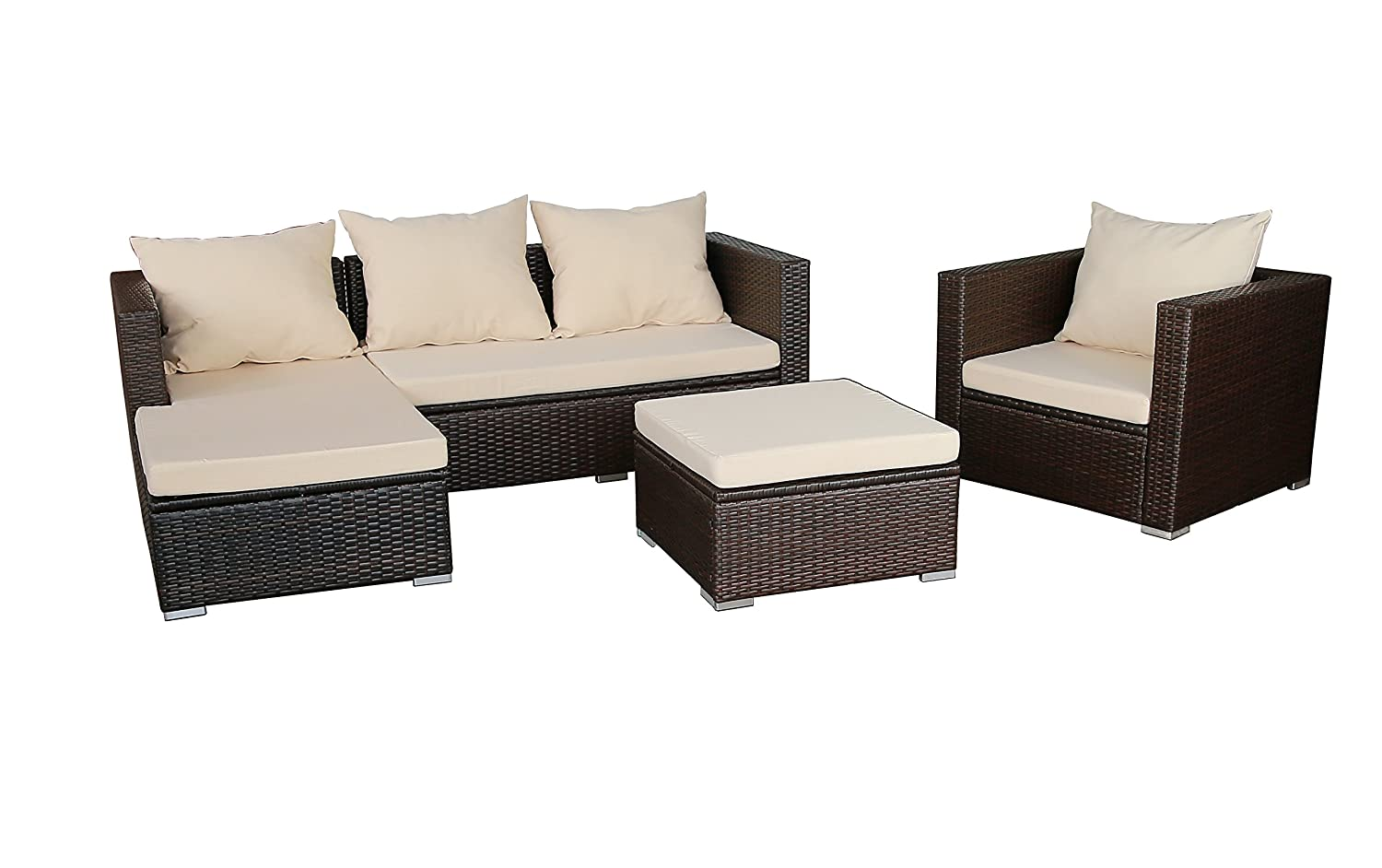 gartenfreude gartenm bel lounge gartenset garnitur sitzgruppe polyrattan 12 teilig. Black Bedroom Furniture Sets. Home Design Ideas