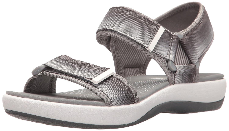 CLARKS Women's Brizo Ravena Flat Sandal B01IAVWQ1Q 7 B(M) US|Grey