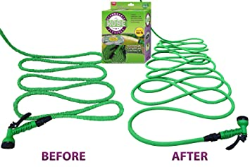 #1 Expandable Garden Water Hose U0026 Nozzle Combo, Expanding From 17u0027 To 50ft