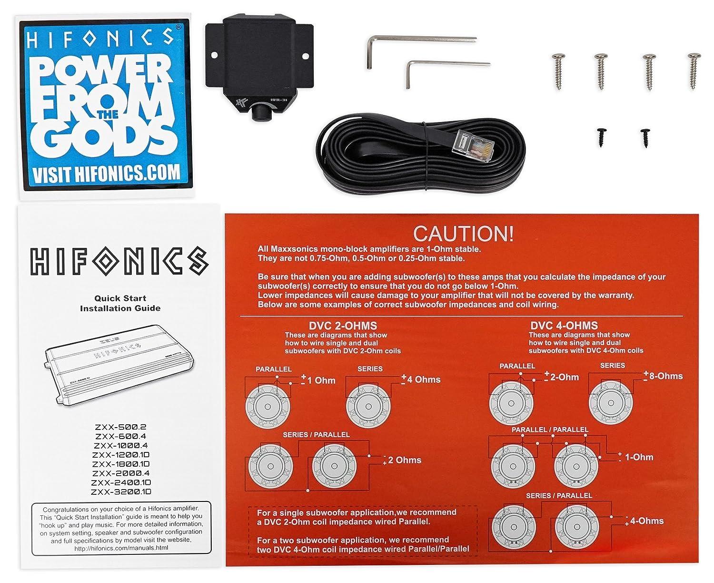 Hifonics Zeus Zxx 24001d 2400 Watt Rms Mono Car Wiring Diagram Subwoofer Wire Svc 2 Ohm Amplifier Bass Remote Amp Kit Electronics