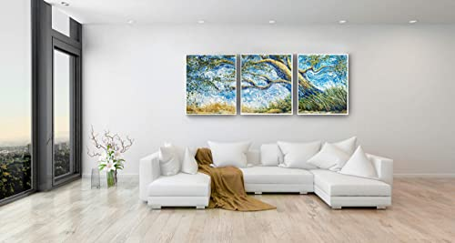 GENIEUS Wall Art HUGE 6ft' Van Gogh Wind' Barrilleaux Original Paintings Modern Giclee Canvas Prints Artwork Abstract Landscape Picture Printed Canvas Wall Decor Art Home Office Wind