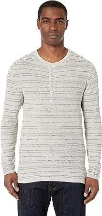 153c8e8bec6 Amazon.com  Billy Reid Men s Striped Henley Shirt  Clothing
