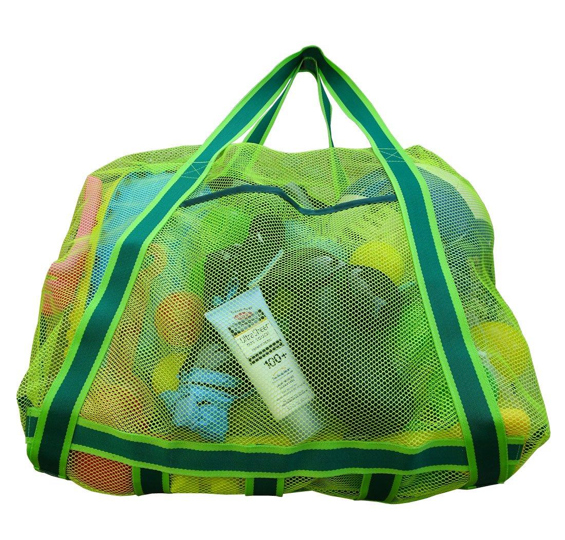 Amazon.com: LEBERNA de malla grande bolsa de playa plegable ...