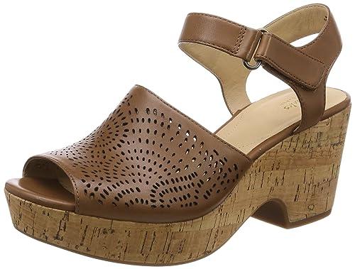 32639404b93 Clarks Women s Maritsa Nila Tan Leather Fashion Sandals-6.5 UK India (40 EU