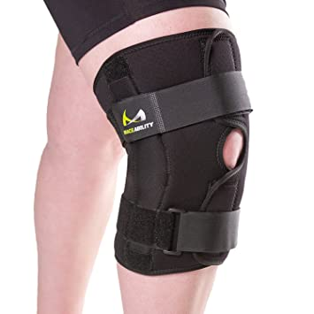 f8b88c81a9 BraceAbility XXXXL Plus Size Knee Brace | Bariatric Hinged Knee Wrap for Big  & Wide Thighs