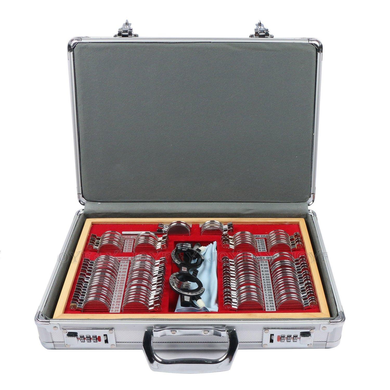 EFK-II Supply Metal Rim Trial Lens set with case Optometry Optical instrument (104-Lens Set)