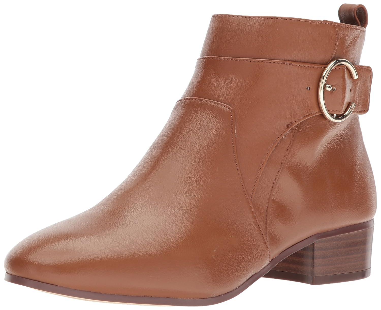 Nine West Women's Odgerel Leather Ankle Boot B072PTSPKR 11 B(M) US|Dark Natural Leather
