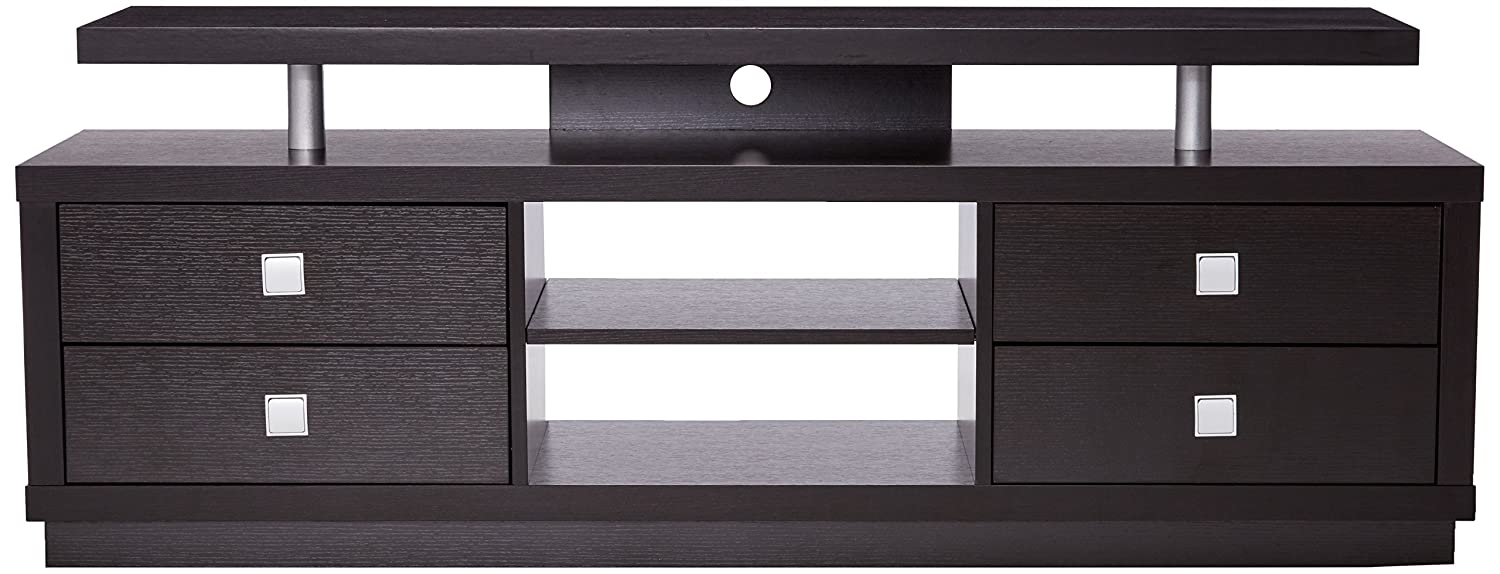Amazon.com: Posavasos Muebles de color marrón oscuro TV ...