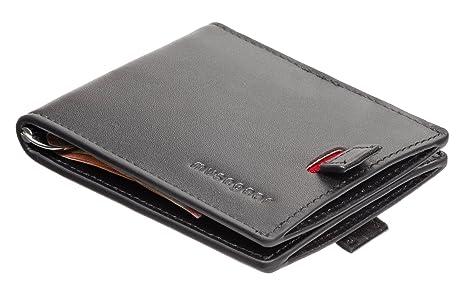 musegear® Wallet (Negro, 16 Tarjetas, Piel auténtica) - Cartera Moderna,