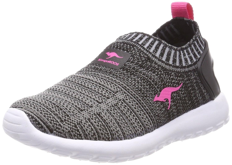 KangaROOS Unisex-Kinder W-600 Kids Sneaker, Schwarz (Jet Black/Daisy Pink), 33 EU