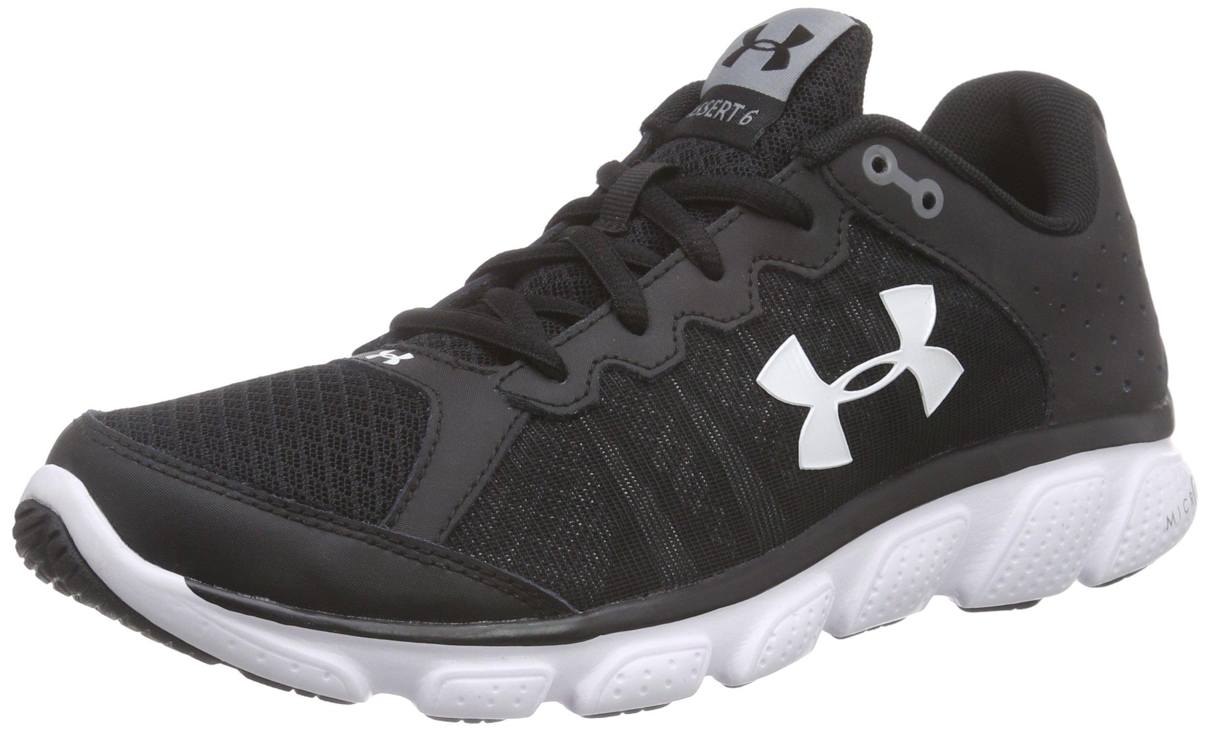 Under Armour Men's Micro G Assert 6 Running Shoe Black (001)/White 7