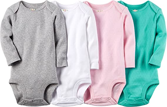Girls' Clothing (newborn-5t) Clothing, Shoes & Accessories Carters Newborn Girls Long Sleeve Shirts Lot Of 4