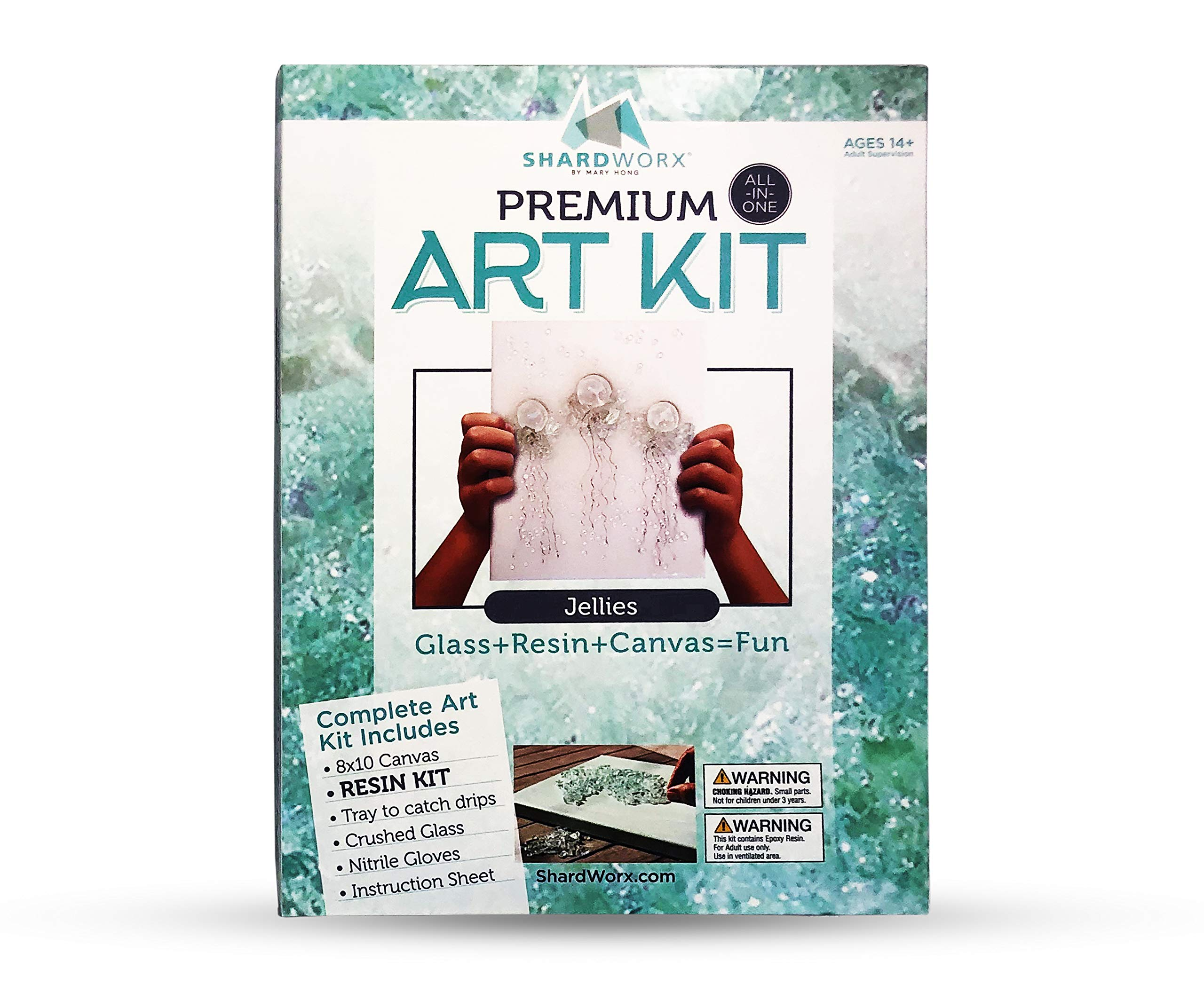 ShardWorx Art Kits by Mary Hong - Mixed Media Glass Art - Jellies Premium Kit by ShardWorx