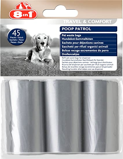 Amazon.com : Ramasse-déjections Bags 8in1 poop Patrol 3 pack ...