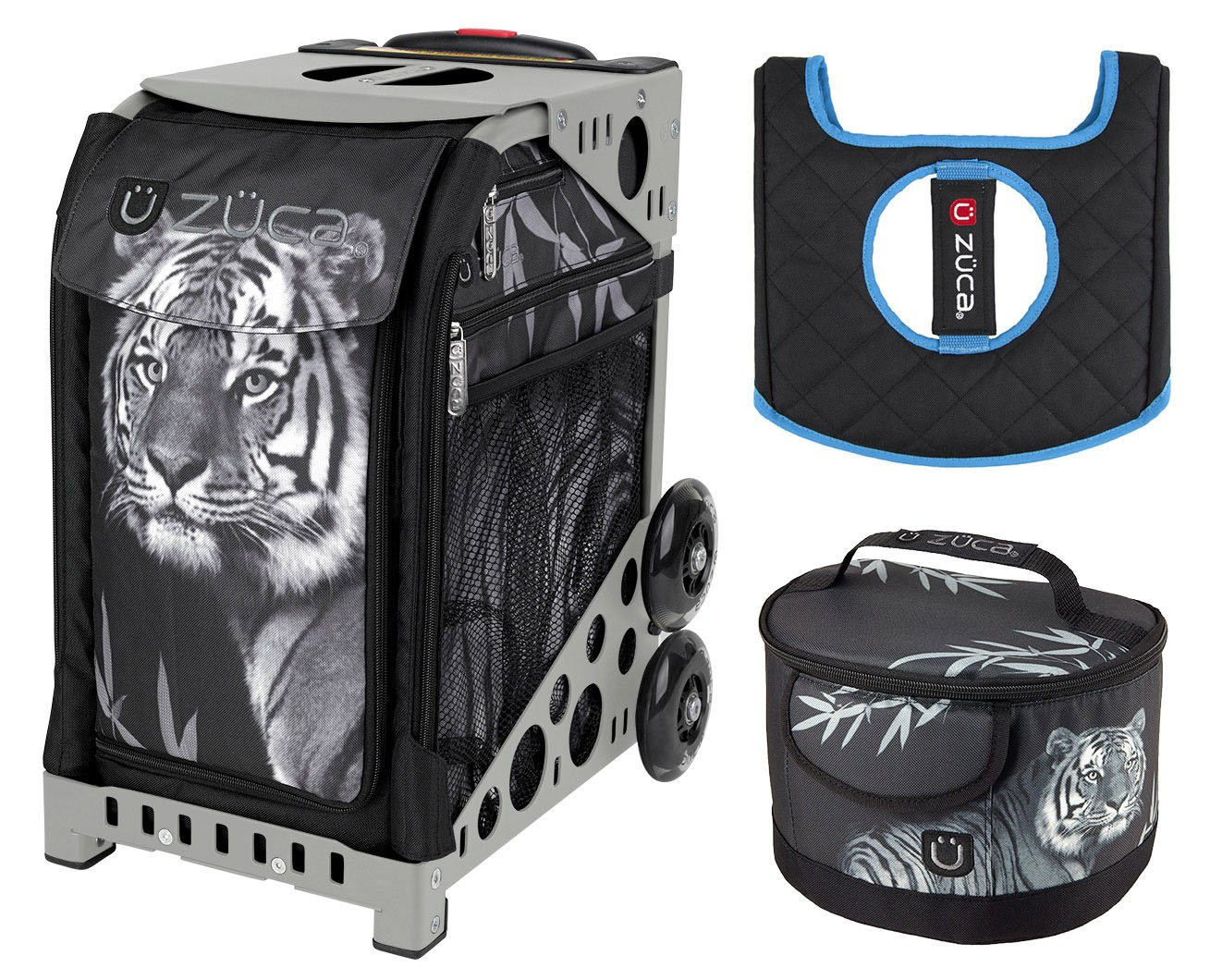 Zuca Sport Bag - Tiger with Lunchbox and Seat Cover (Grey)