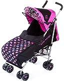 kidz kargo Citi Elite Single Pushchair for New-Born or Toddler Up to 22.5 kg (Magenta Pink)