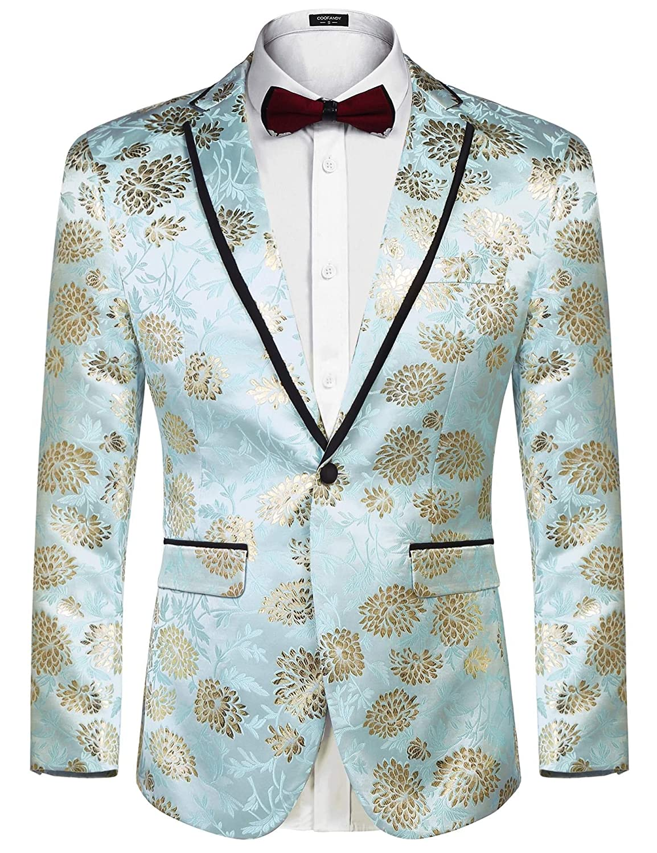 COOFANDY Mens Floral Party Tuxedo Vest Sleeveless Dress Suit Vest Waistcoat