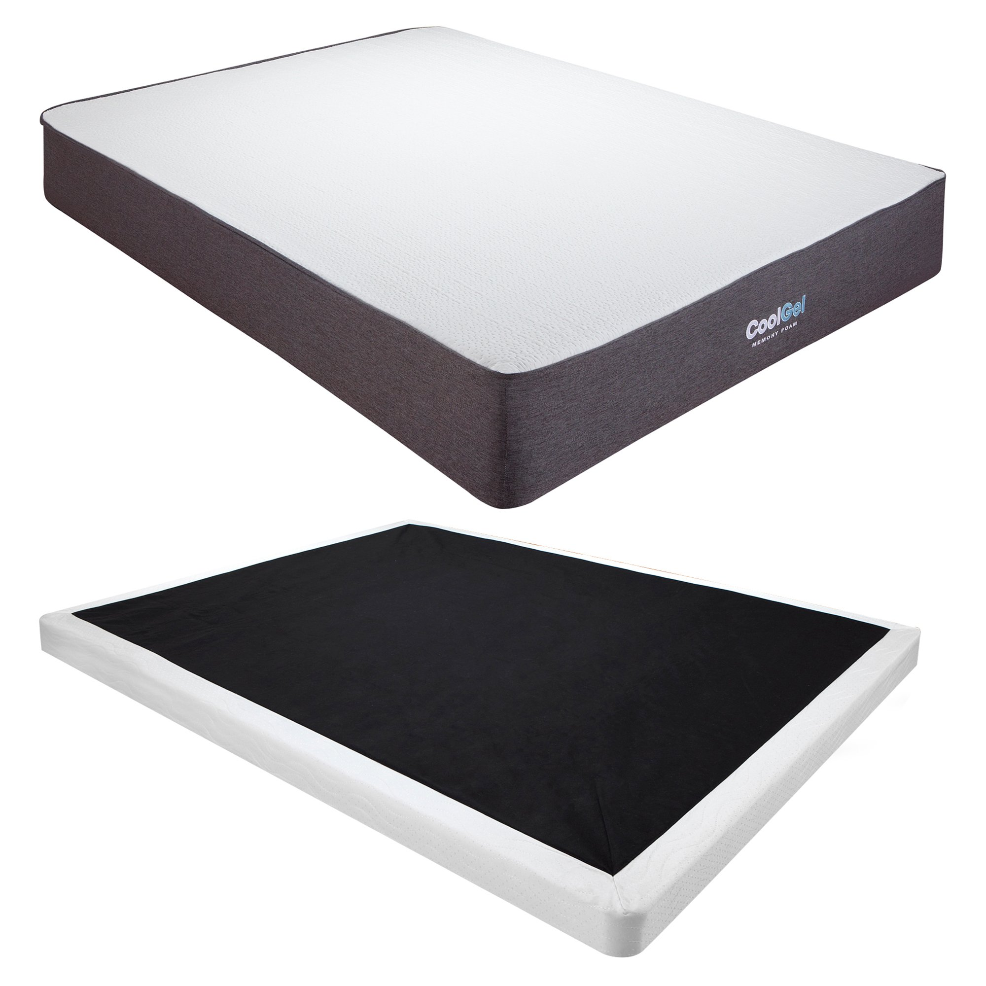 Classic Brands Cool Gel Ventilated Gel Memory Foam 10.5-Inch Mattress with 4-Inch Foundation by Classic Brands