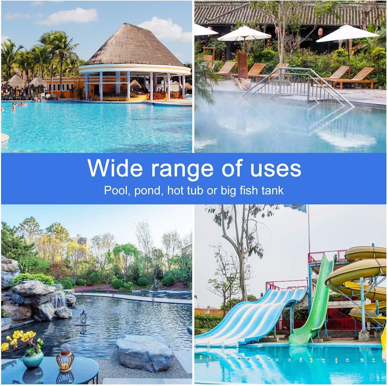 Aiglam Pool Net Pool Skimmer Swimming Pool Skimmer Leaf Net Spas,Ponds,Fountains for Swimming Pool Fine Mesh Net Sturdy Frame