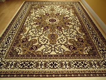 Amazoncom Ivory Persian Style Rug Oriental Rugs Living Room - Living room rugs amazon