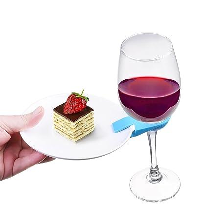 Amazon.com | Kloud City Pack of 5 Plastic Wine Glass Stemware Plate ...